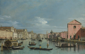 The Grand Canal facing Santa Croce | Bernardo Bellotto | oil painting