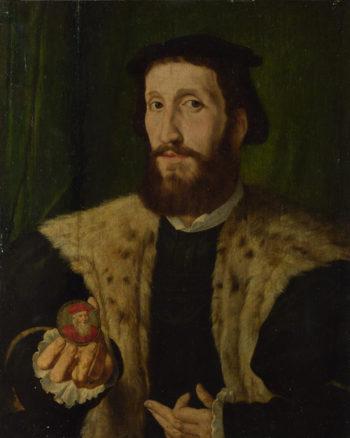 A Man holding a Coloured Medal | Style of Jan Cornelisz. Vermeyen | oil painting