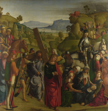 Christ carrying the Cross and the Virgin Mary Swooning | Boccaccio Boccaccino | oil painting
