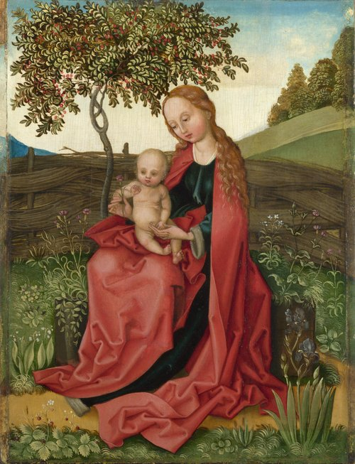The Virgin and Child in a Garden | Style of Martin Schongauer | oil painting