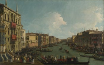 A Regatta on the Grand Canal | Canaletto | oil painting