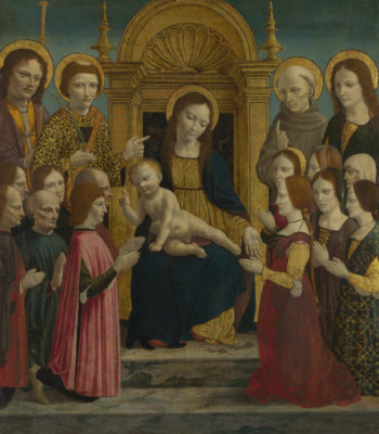 The Virgin and Child with Saints and Donors | the Master of the Pala Sforzesca | oil painting