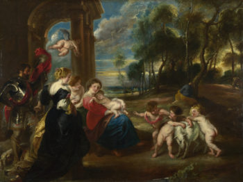 The Holy Family with Saints in a Landscape | the Studio of Peter Paul Rubens | oil painting