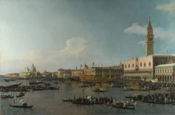 The Basin of San Marco on Ascension Day | Canaletto | oil painting