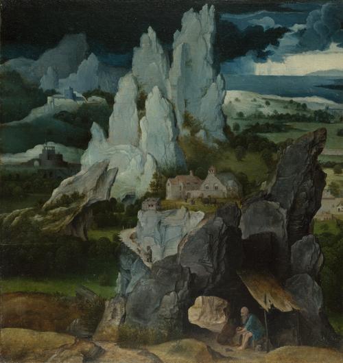 Saint Jerome in a Rocky Landscape | the Workshop of Joachim Patinir | oil painting