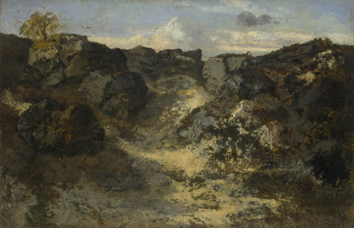 A Rocky Landscape | Theodore Rousseau | oil painting