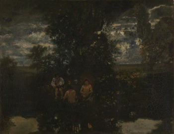 Moonlight | Theodore Rousseau | oil painting