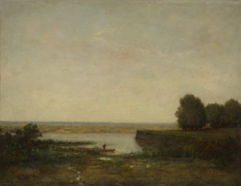 River Scene | Theodore Rousseau | oil painting