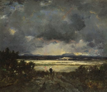 Sunset in the Auvergne | Theodore Rousseau | oil painting