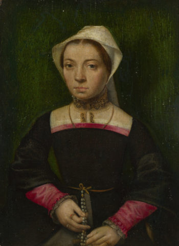 A Lady with a Rosary | Catharina van Hemessen | oil painting