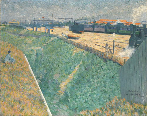 The Western Railway at its Exit from Paris | Charles Angrand | oil painting