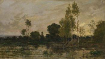 Alders   Charles-Francois Daubigny   oil painting