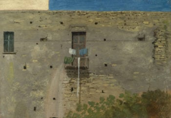 A Wall in Naples | Thomas Jones | oil painting
