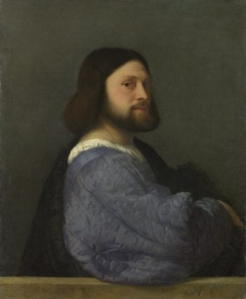 A Man with a Quilted Sleeve | Titian | oil painting