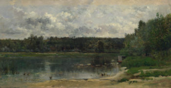 River Scene with Ducks | Charles-Francois Daubigny | oil painting