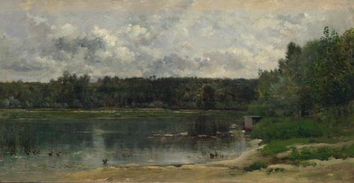 River Scene with Ducks | Charles-Francois Daubigny | oil painting