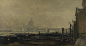 St Paul's from the Surrey Side | Charles-Francois Daubigny | oil painting