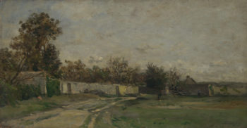 The Garden Wall | Charles-Francois Daubigny | oil painting