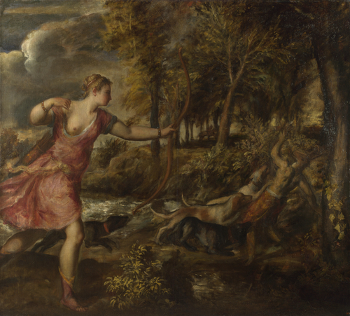 The Death of Actaeon | Titian | oil painting