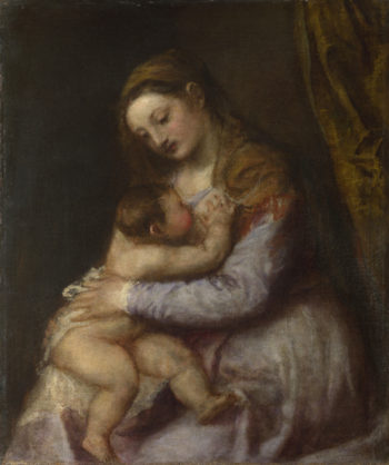 The Virgin suckling the Infant Christ | Titian | oil painting