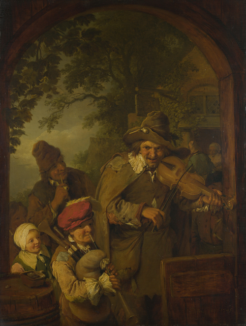 The Wandering Musicians | Christian Wilhelm Ernst Dietrich | oil painting