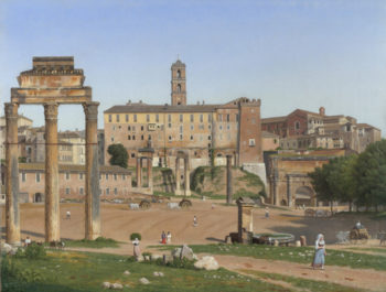View of the Forum in Rome | Christoffer Wilhelm Eckersberg | oil painting
