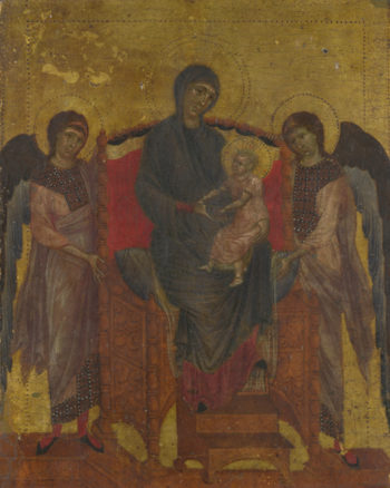 The Virgin and Child Enthroned with Two Angels | Cimabue | oil painting