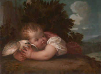 A Boy with a Bird | Titian or Titian workshop | oil painting