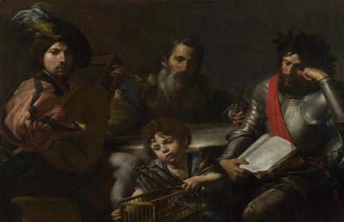 The Four Ages of Man | Valentin de Boulogne | oil painting