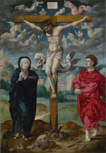The Crucifixion | Circle of Pieter Coecke van Aalst | oil painting