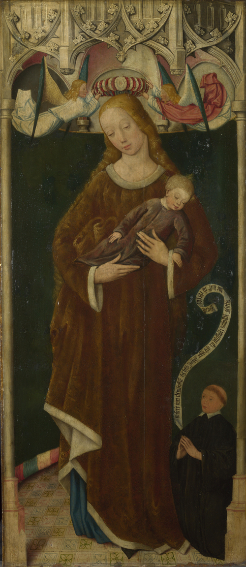 The Virgin and Child with a Donor | Circle of the Master of Liesborn | oil painting