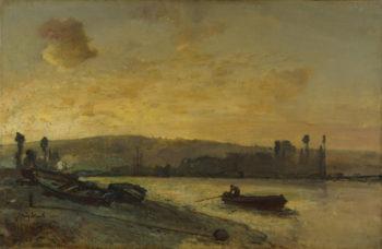 River Scene | Johan Barthold Jongkind | oil painting