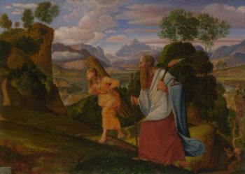 Abraham and Isaac | Johann Heinrich Ferdinand Olivier | oil painting