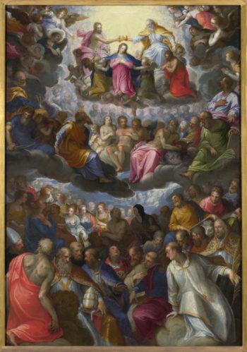 The Coronation of the Virgin | Johann Rottenhammer | oil painting