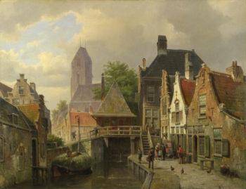 View of Oudewater | Willem Koekkoek | oil painting
