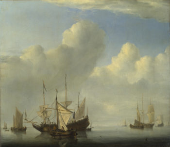 A Dutch Ship coming to Anchor | Willem van de Velde | oil painting