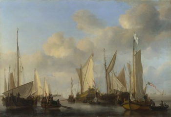 A Dutch Yacht saluting | Willem van de Velde | oil painting