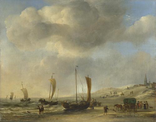 The Shore at Scheveningen | Willem van de Velde | oil painting
