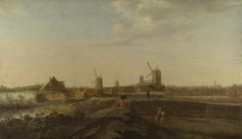 A Landscape with a View of Dordrecht | Willem van Drielenburgh | oil painting