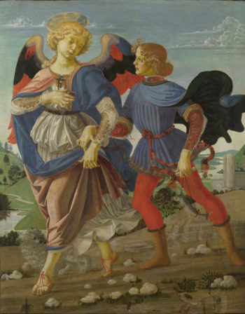 Tobias and the Angel | Workshop of Andrea del Verrocchio | oil painting