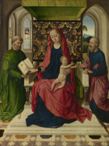 The Virgin and Child with Saint Peter and Saint Paul | Workshop of Dirk Bouts | oil painting