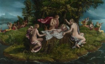 The Infancy of Jupiter | Workshop of Giulio Romano | oil painting