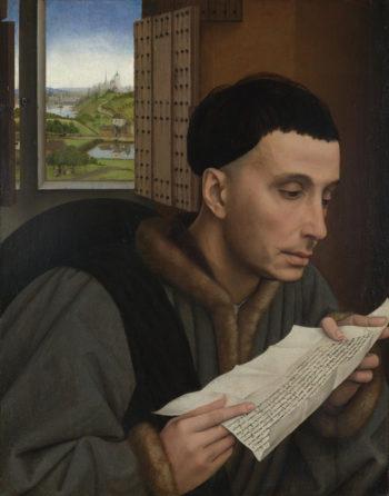 A Man Reading (Saint Ivo) | Workshop of Rogier van der Weyden | oil painting