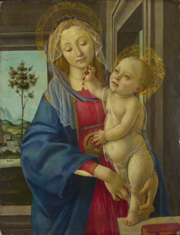 The Virgin and Child with a Pomegranate | Workshop of Sandro Botticelli | oil painting