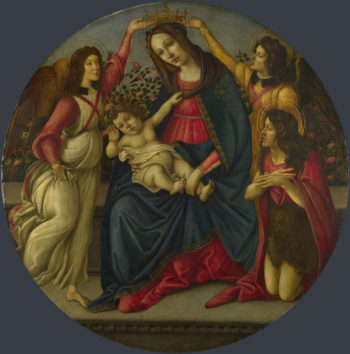 The Virgin and Child with Saint John and Two Angels | Workshop of Sandro Botticelli | oil painting