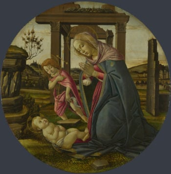 The Virgin and Child with Saint John the Baptist | Workshop of Sandro Botticelli | oil painting