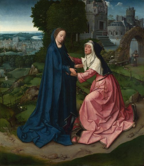 The Visitation of the Virgin to Saint Elizabeth | Workshop of the Master of 1518 | oil painting