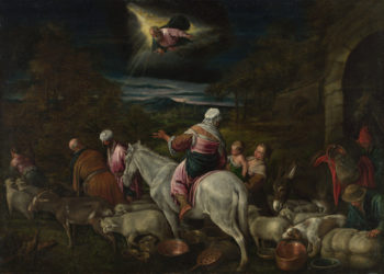 The Departure of Abraham   Workshop or imitator of Jacopo Bassano   oil painting