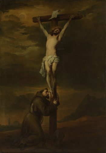 St. Francis at the foot of the cross. 1606 - 1691 | Anthony van Dyck | oil painting