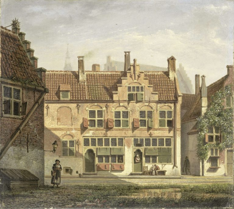 A street in Amersfoort. 1826   Johannes Jelgerhuis   oil painting